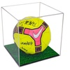 Acrylic Full Size FIFA Soccer Ball Display Case with Turf Floor