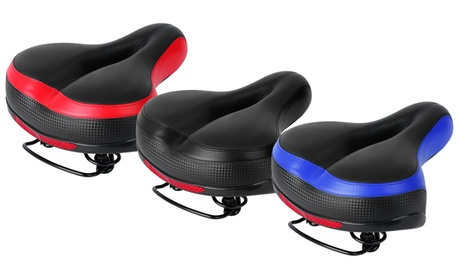 LakeForest Padded Foam Hollow Bike Seat Saddle w/ Dual Springs & Reflective Tape