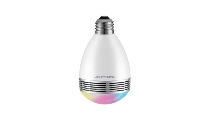 LIGHTSTORY bluetooth speaker smart bulb with color channing LED