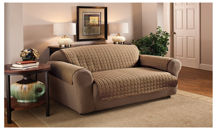 Home Sweet Home Furniture Protectors Quilted Sofa Cover