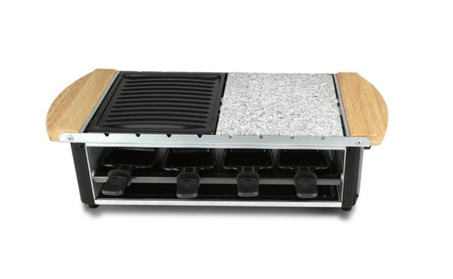 Grill Raclette Two-Tier Party Cooktop Stone Plate Metal Grills
