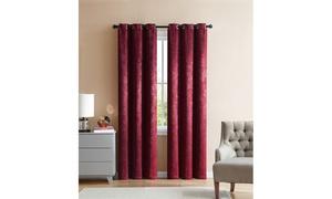 """Embossed 76""""x84"""" or 76""""x96"""" Grommet Window Curtain Panel Pair"""
