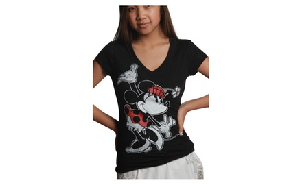Minnie Hat Flower V-neck Black
