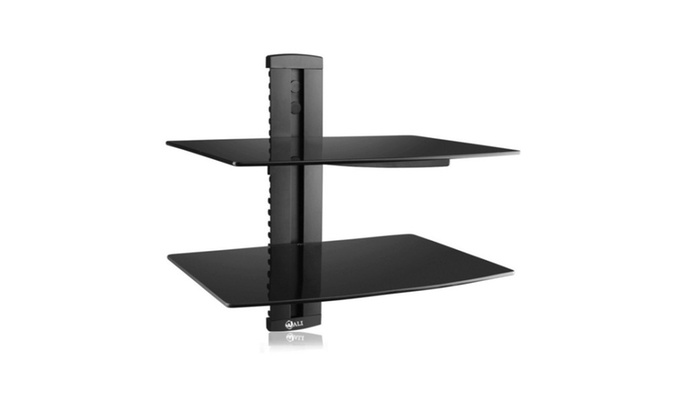 WALI Floating Shelf with Strengthened Tempered Glass for DVD Players