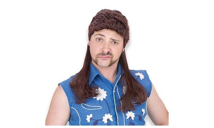 sc 1 st  Groupon & American Redneck Super Mullet Brunette Wig Hillbilly Adult Costume ...