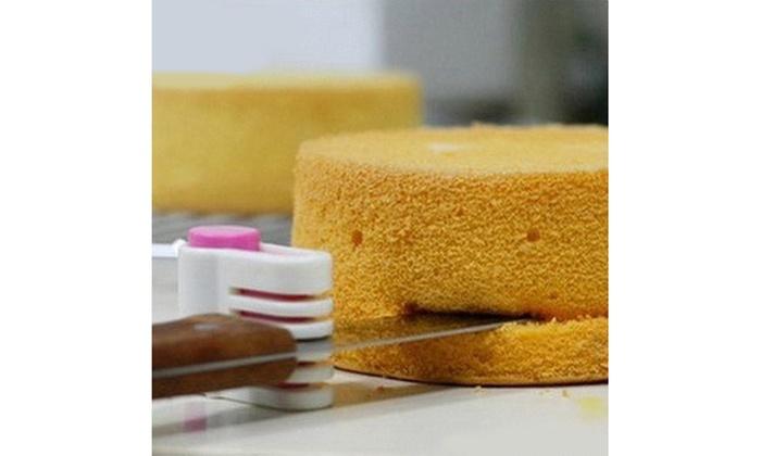 2Pcs 5 Layers Kitchen DIY Cake Bread Cutter Leveler Slicer Cutting Fixator Tools