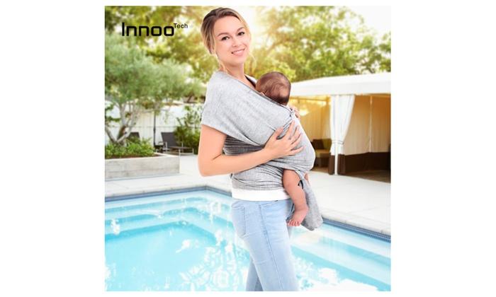 1bbc87d6960 Innoo Tech Baby Sling Carrier Natural Cotton Nursing Baby Wrap