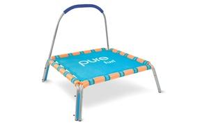 Pure Fun Kids Jumper Trampoline with Handrail