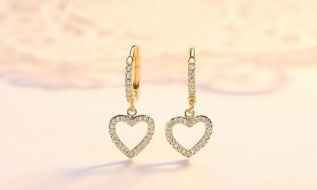 Leo Rosi Love Heart Earrings in 18K Gold Filled Valentines Day Gift