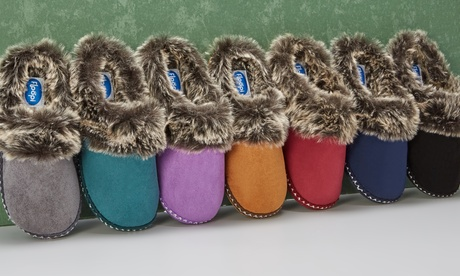 Floopi Women's Indoor Outdoor Aztec Two Tone Fur-Lined Slippers W/Memory Foam