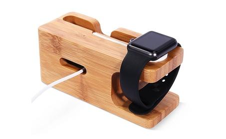 Universal Wooden Phone Stand Desk watch Holder Charging Dock Bracket 3e0594eb-2bc0-41dd-8432-2cabcf2f1231