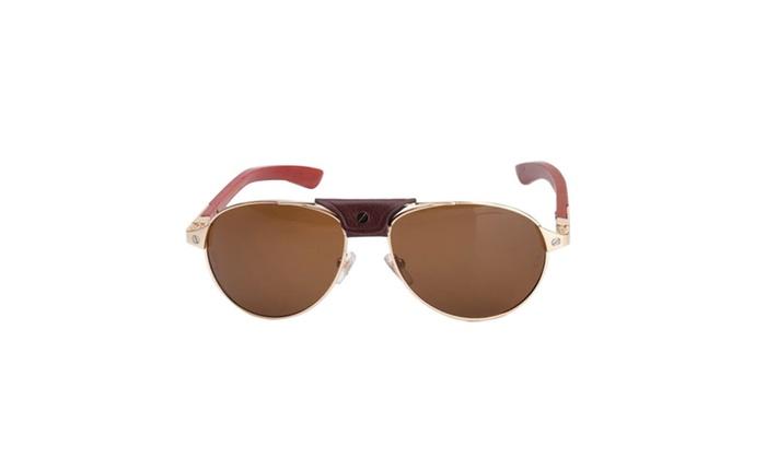 6c08f9a51d63 Cartier T8200940 FR00 Santos-Dumont Gold Men s 61mm Sunglasses