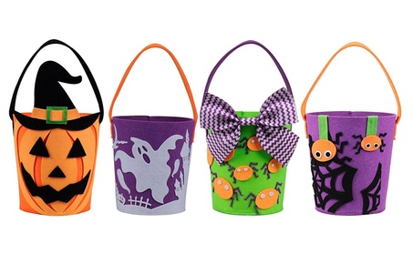 Halloween Buckets for Trick or Treat Goodie Bags, Set of 4 ce4415f5-f09d-4e1a-b211-6fded3cc8cc8