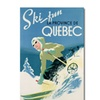 Skiing in Quebec 1938 Canvas Print