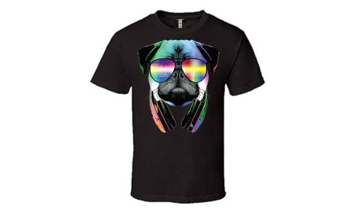 DJ PUG With Sun Glasses and Headphones Music T-Shirt