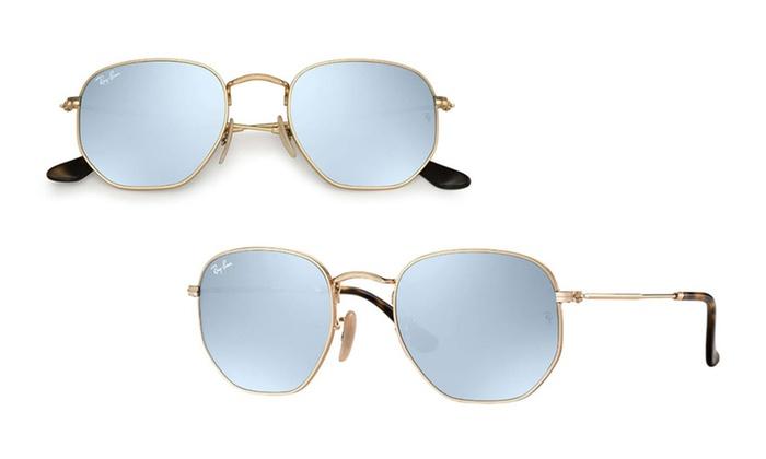 c12a0f2ef50 Ray-ban Polarized Hexagonal Flat Lens Sunglasses Rb3548n 54