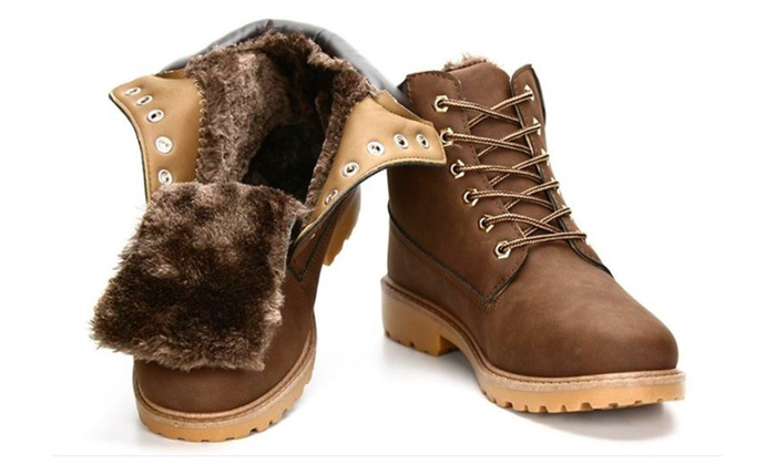 Lovers marten boots unisex lace-up winter snow boot