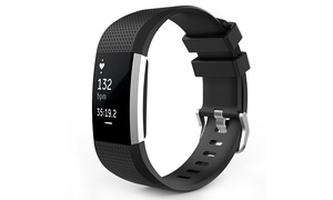 Large Silicone Replacement Watch Band Strap for Fitbit Charge 2