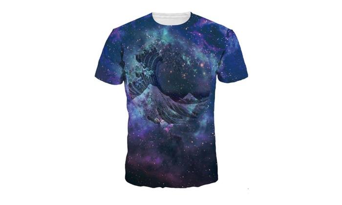 4PING Men's Star Sky Digital Printing T-shirt Short-Sleeved Shirt