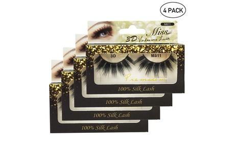 4 PACKS Miss Lashes 3D Volume Tapered False Eyelash Extension