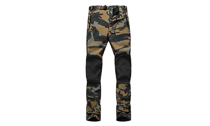 Women's Polyester Outdoor Breathable Stretch Climbing Camouflage Pant
