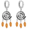 Orchid Jewelry sterling silver 6 ctw cubic zirconia textured earrings