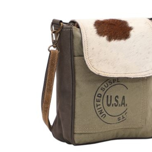 Myra Bag Usa Stamp Upcycled Canvas Cowhide Crossbody Bag S 1462 Groupon The bags and accessories on this website are for sale but if you would like a bag or purse made using your fabric to a similar design of one of those shown on the site, please contact myra using the details below to discuss your requirements. myra bag usa stamp upcycled canvas cowhide crossbody bag s 1462
