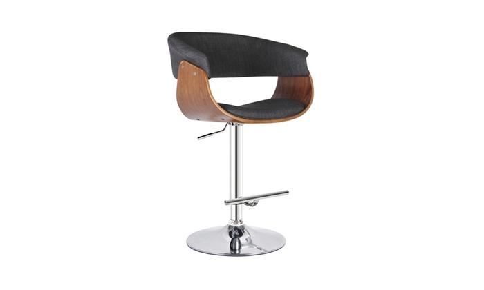 ... Gray Modern Adjustable Swivel Bar Stool With Armrests: Gray Modern Adjustable  Swivel Bar Stool With