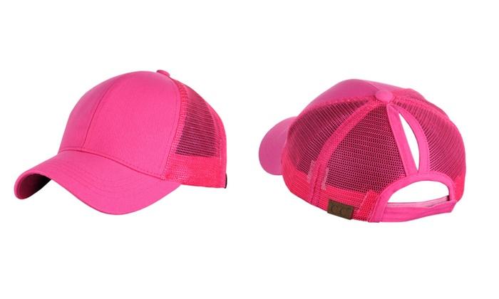 C.C Ponycap Messy Ponytail Mesh Trucker Baseball Cap – 15 colors
