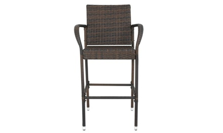 Outdoor All Weather Wicker Chairs - 4 Pack