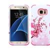 Insten Tuff Flowers Hard Hybrid Case For Samsung Galaxy S7 Edge Pink