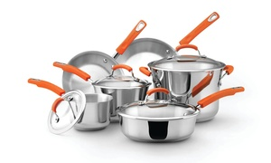 Rachael Ray Stainless Steel Cookware Set (10-Piece)