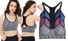 Womens Racerback Padded Seamless Yoga Sports Bra(3-Pack)
