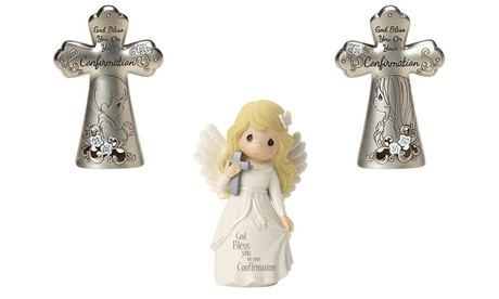 Precious Moments Confirmation Girl/Boy Angel Figurine & Crosses (Goods For The Home) photo