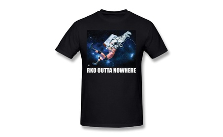 Jojotee Mens Outta Nowhere Astronaut Wwe Black T-shirt 25076e15-cac7-4df0-bc84-8a266146f217
