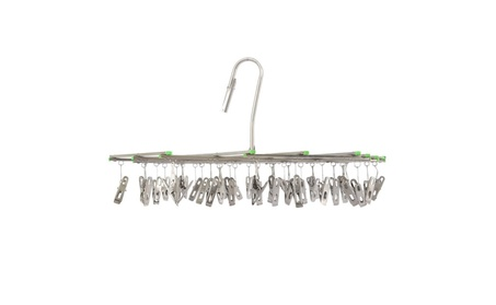 35 Clips Collapsible Stainless Steel Swivel Hook Clothes Drying Rack 2de7542f-5148-414e-a767-a4300fb35352