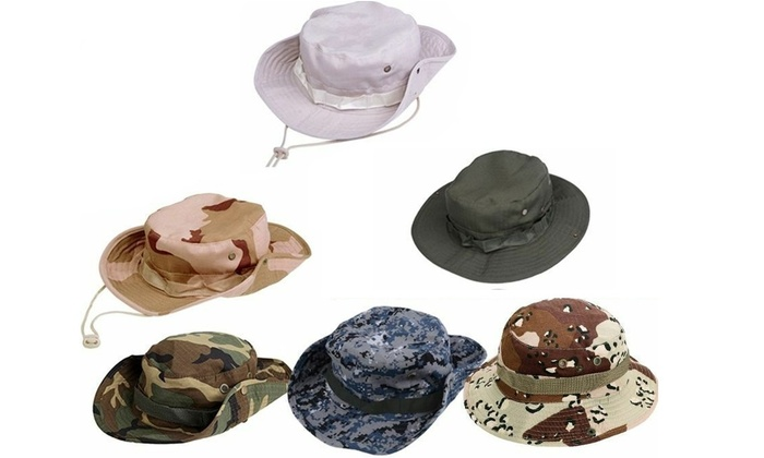 5c5011b8d11 ... Bucket Hat Boonie Hunting Fishing Outdoor Men Cap Washed Cotton NEW W   STRINGS ...