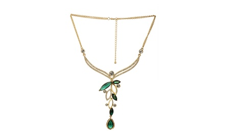 ROYAL MUGHAL - DEEP GREEN TEAR DROP NECKLACE