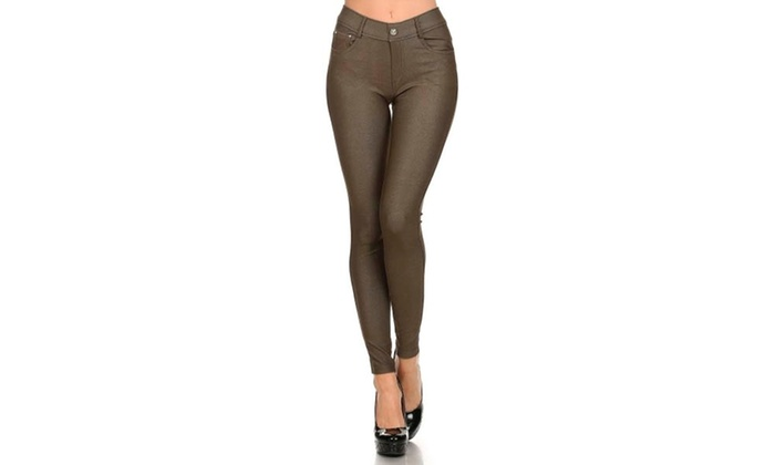 Women's Solid Color Jeggings