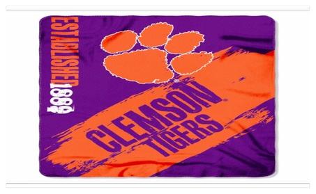 NCAA Clemson Tigers Fleece Throw Blanket ac16c14a-17f3-425c-9427-5cafde6bccb0