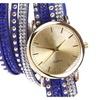 Rivet Winding Wrap Bracelet Wristwatch for Women