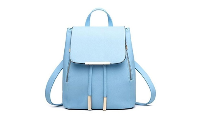 Women's Summer Cute Korean Leather Student Bag Backpack Shoulder Bag