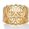 Oval-Link 18k Gold over .925 Sterling Silver Geometric Eternity Ring