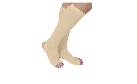 Open Toe Compression Stockings with Heel Gel Therapy - Nude 0bf330c1-73a5-4571-bc0b-6911e1599ec9