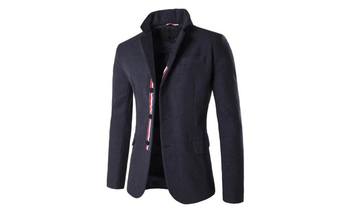 Men's Simple Casual Single Breasted Solid Suit Jacket