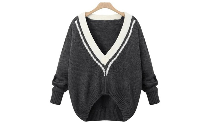 Women's Graphic Asymmetric Hem Casual Pullover Pullovers