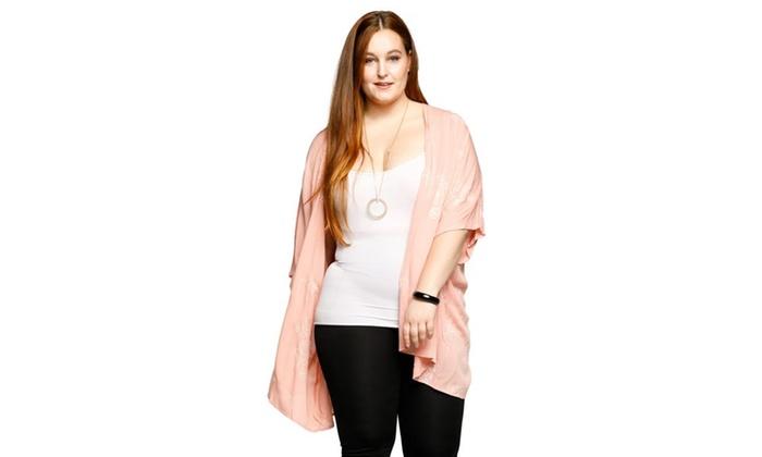 15283622276 ... Floral Open Front Kimono Cardigan Sweater. Xehar Women s Plus Size  Flora.