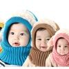 Baby Girls Boys Winter Knitted Warm Hat Scarf Earflap Hood