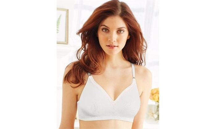 4125acd9fd9 Bali 3550 Comfort Revolution Convertible Wirefree Bra White & Pink Bliss  Lace - 38DD Multi-color