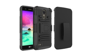 Hybrid Kickstand Belt Clip Cell Phone Protective Case for LG Stylo 3